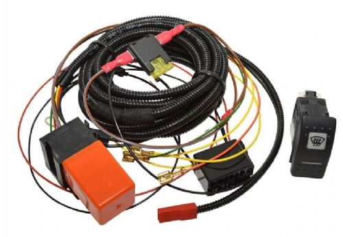 Defender Heated Windscreen Wiring Kit - Carling Switch - DA1400